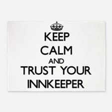 Keep Calm and Trust Your Innkeeper 5'x7'Area Rug