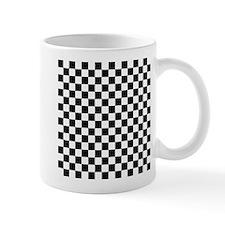 Black and White Checker Pattern Mugs
