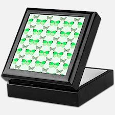 Green Butterflies Keepsake Box