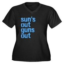 suns out guns out Plus Size T-Shirt