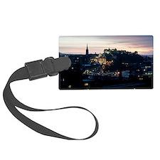Nighttime Edinburgh Luggage Tag