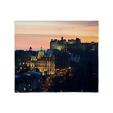 Edinburgh Castle Throw Blanket