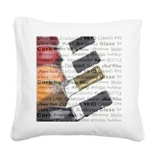 TIME FOR WINE Square Canvas Pillow