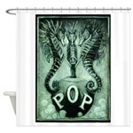Pop Charcoal Logo By David Doherty Shower Curtain