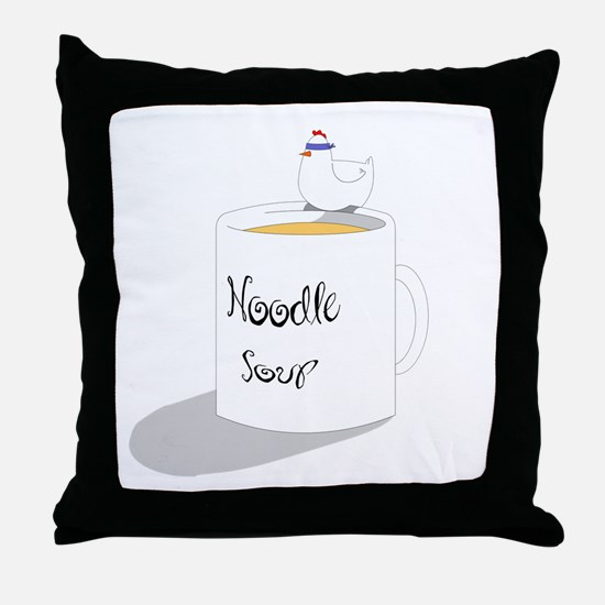 Chicken Noodle Soup Throw Pillow