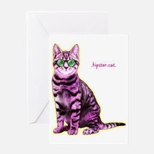 HipsterCat Greeting Card