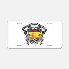 Spain Soccer Aluminum License Plate