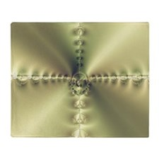 Golden Cross Throw Blanket