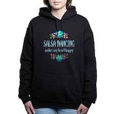 Salsa Heart Happy Women's Hooded Sweatshirt