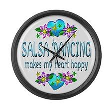 Salsa Heart Happy Large Wall Clock