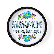 Salsa Heart Happy Wall Clock