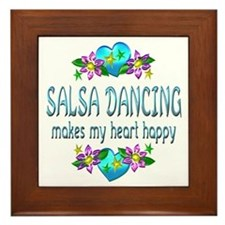 Salsa Heart Happy Framed Tile