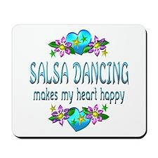 Salsa Heart Happy Mousepad