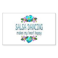 Salsa Heart Happy Decal