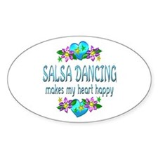 Salsa Heart Happy Decal
