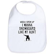 Snowboard Like My Aunt Bib