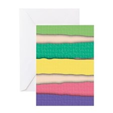 Pastel Colors Stripes Pattern Greeting Cards