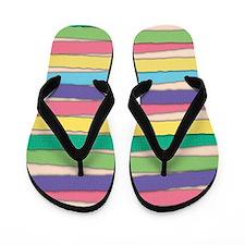 Pastel Colors Stripes Pattern Flip Flops