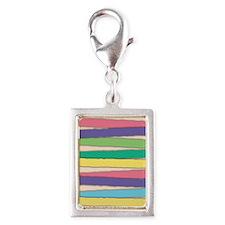 Pastel Colors Stripes Pattern Charms
