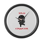 Ninja Conductor Large Wall Clock