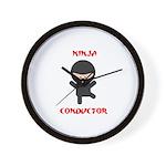 Ninja Conductor Wall Clock
