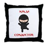 Ninja Conductor Throw Pillow