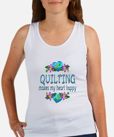 Quilting Heart Happy Women's Tank Top