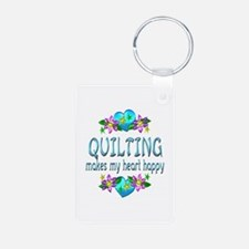 Quilting Heart Happy Keychains