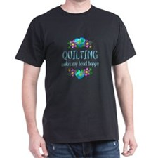 Quilting Heart Happy T-Shirt