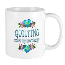 Quilting Heart Happy Small Mugs