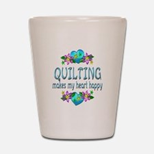 Quilting Heart Happy Shot Glass