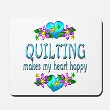 Quilting Heart Happy Mousepad