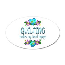 Quilting Heart Happy Wall Decal