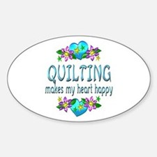 Quilting Heart Happy Decal