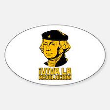 Viva La Revolucion! Oval Decal