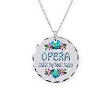 Opera Heart Happy Necklace