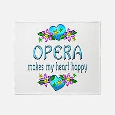 Opera Heart Happy Throw Blanket