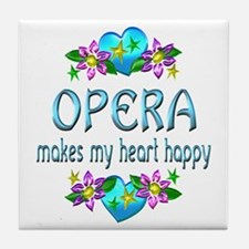 Opera Heart Happy Tile Coaster