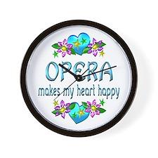 Opera Heart Happy Wall Clock