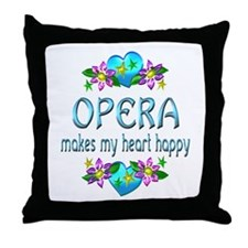 Opera Heart Happy Throw Pillow