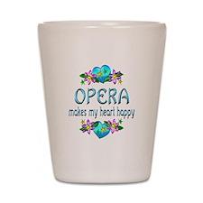 Opera Heart Happy Shot Glass