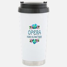 Opera Heart Happy Stainless Steel Travel Mug