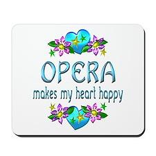 Opera Heart Happy Mousepad