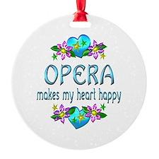 Opera Heart Happy Ornament