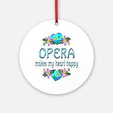Opera Heart Happy Ornament (Round)