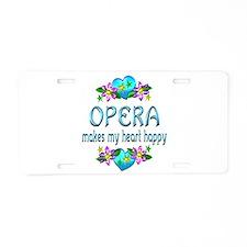 Opera Heart Happy Aluminum License Plate