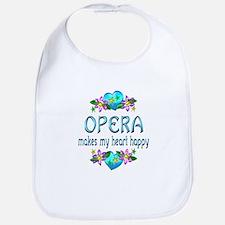 Opera Heart Happy Bib