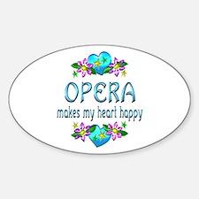 Opera Heart Happy Sticker (Oval)