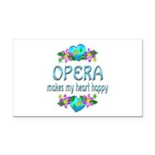 Opera Heart Happy Rectangle Car Magnet