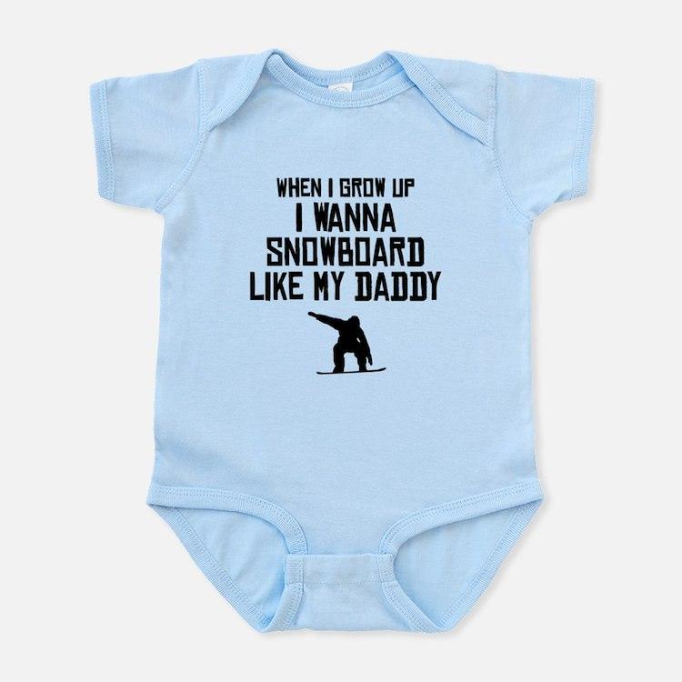 Snowboard Like My Daddy Body Suit